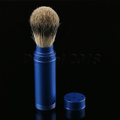 1PC Travel Shaving Brush Pure Badger Hair Removable Aluminum Handle Portable 5