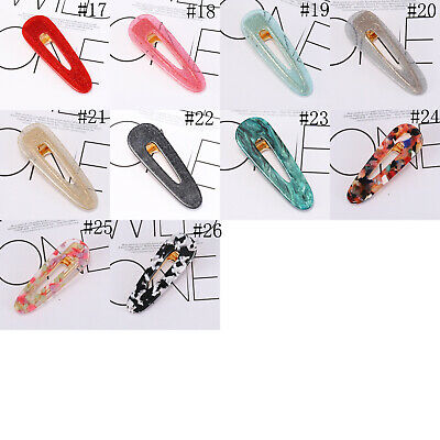Fashion Women's Hair Slide Clips Snap Barrette Hairpin Pins Hair Accessories 7