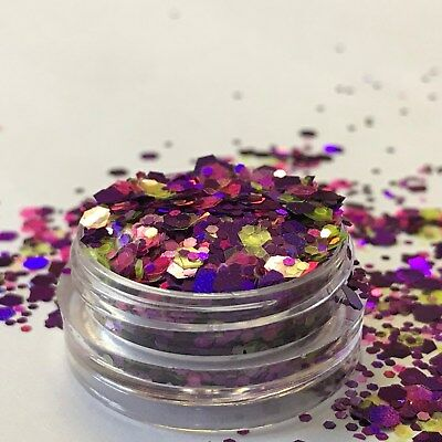 Chunky Glitter Loose Mix Pot Eye Shadow Nail Face Tattoo Festival Club Cosmetic 12