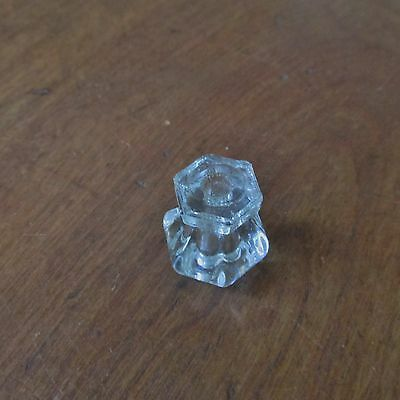 Antique Victorian Clear Glass Drawer Knob or Pull 4