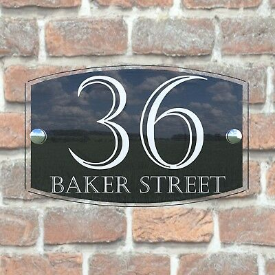 Contemporary House Sign Plaque Door Number 1 - 999 Personalised Name Plates 6
