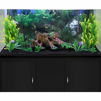 Fish Tank Aquarium Complete Set Up Tropical Marine Black Cabinet 4ft 300 Litre 4