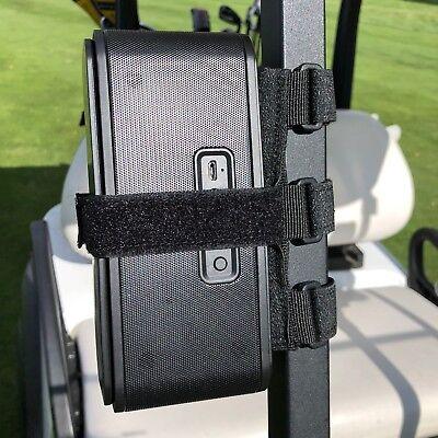 Bushwhacker Speaker Mount for Golf Cart Railing Blue Tooth Holder Wireless Bar 6
