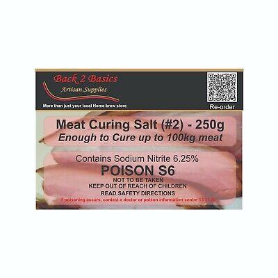Meat Cure Salt #2 (6.25%) - 250g Sausage, salami, Insta-cure, pink salt, Curing 2