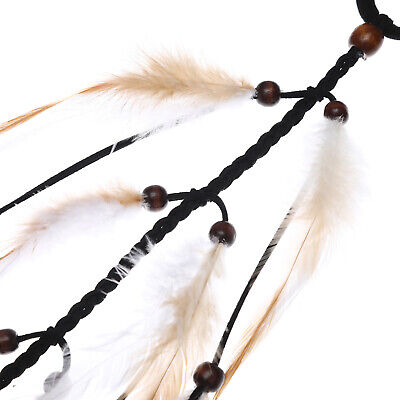 Boho Women's Long Feather Hair Scrunchies Weaving Hair Rope Rubber Band Ponytail 9