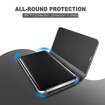 Galaxy S9 S8 Plus Note 9 S7 A8 J5 J2 Pro J8 Cover Mirror Flip Case for Samsung 2