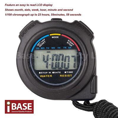 Handheld Stopwatch Digital Chronograph Sport Counter Timer Stop Watch 2
