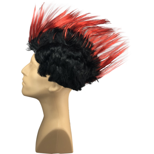 Red Mohawk Wig Rooster Punk Rock Halloween Cosplay Party Fancy Costume HM-010