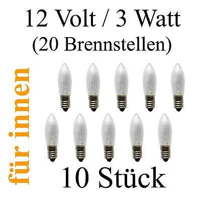 10x 8 Volt 3WATT V  E10 Spitzkerze Riffelkerze Kleinkerze Topkerze Schwippbogen