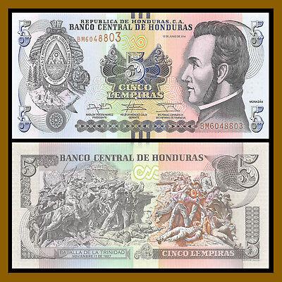 HONDURAS SET 4 PCS 1 2 5 10 LEMPIRAS 2012 P 89 90 91 92 UNC