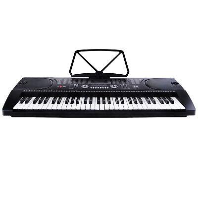 Digital Keyboard Klavier Piano 61Tasten 128 Sounds Rhythmen Lernfunktion Schwarz