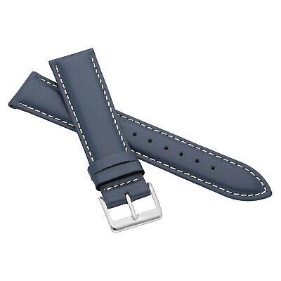 MARCHEL Lederarmband LLB Premium Glatt Silber Gold Schließe Uhrenarmband Uhr 9