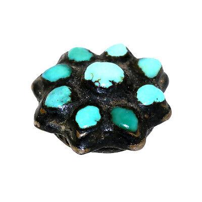 (2552) Antique Tibetan turquoises set in silver 6