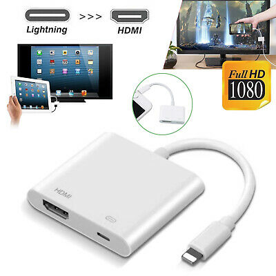 Lightning to HDMI Digital AV TV Adapter Cable For iPad iPhone 6 7 8 Plus X 7