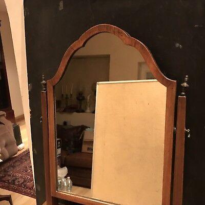 George 1st Ladys Walnut Dressing Mirror With Draws Stand 3