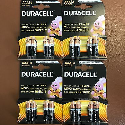 Duracell AAA Alkaline 1.5V Batteries LR03/MN2400 -Pack of 4 Longer Lasting Power
