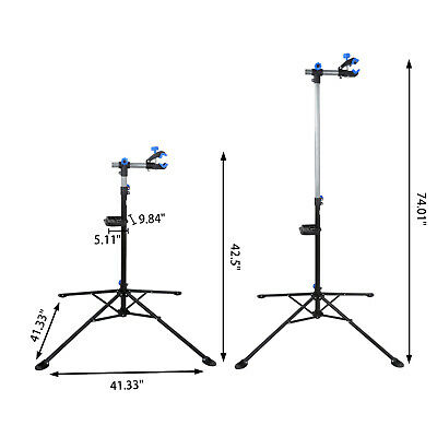 """Pro Bike 42"""" To 74"""" Repair Stand Adjustable w/ Telescopic Arm Cycle Bicycle Rack 2"""