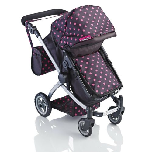 Molly Dolly 2 in 1 Deluxe Babyboo Doll Stroller/Pram Buggy Pink Girls Junior Toy