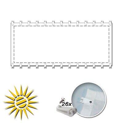 Seilzugsystem Seilspannmarkise silber c 330x140 cm Pergola Komplett 26 Laufhaken
