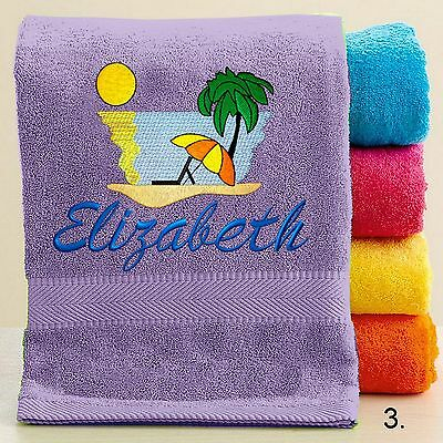 Personalized Bath//Beach Towel with FREE Custom Embroidery