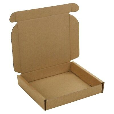 Small Royal Mail Large Letter Cardboard Postal Pizza Style Mailing Folding Boxes 4