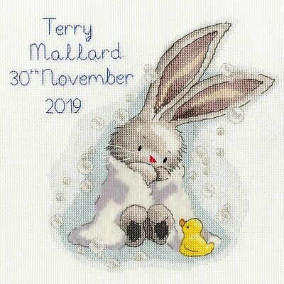 BOTHY THREADS NEW ARRIVAL BABY BIRTH SAMPLER COUNTED CROSS STITCH KIT 36x18cm