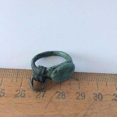 Great Ancient bronze ring Middle Ages original. 6
