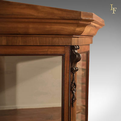 Antique Display Cabinet, Regency Glazed Mahogany Cupboard on Stand English c1820