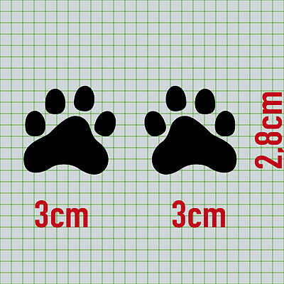 2 Katzen rechts + Pfötchen schwarz Aufkleber Tattoo Deko Folie Auto Balkon Tür 4