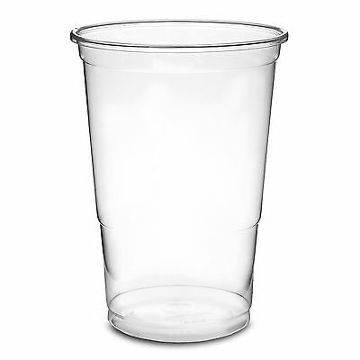 Clear Strong Plastic Pint / Half 1/2 Disposable Beer Glasses Cups Tumblers 2