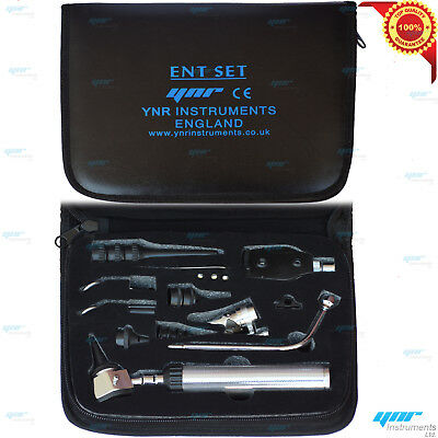 Humain & Vétérinaire Ent Médical Otoscope Ophtalmoscope Set Diagnostic Kit Led