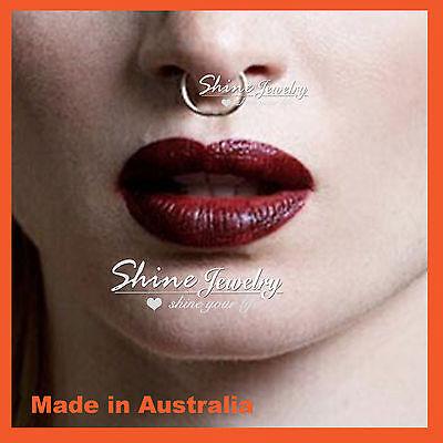6-8-10mm Sterling Silver Small Hoop Earring Sleeper Ear Nose Lip Piercing Ring 8