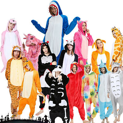 Pigiama intero costume animale kigurumi unisex carnevale Natale IT festa cosplay 5