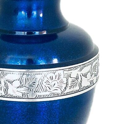 Well Lived® Blue Metallic Adult Cremation Urn for human ashes 3