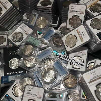 P ✯Estate Lot US Silver Dollars ✯ PCGS NGC Morgan Peace UNC ✯ O CC Coins✯ S