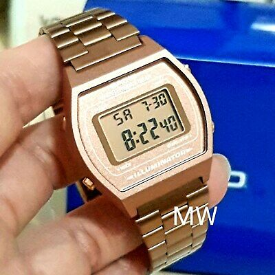 New Casio Vintage Rose Gold Digital Stainless Steel Watch B640WC-5ADF B640WC-5A 4