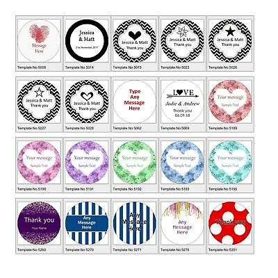 Personalised 37mm Stickers Business/Company Name Round Circle Labels custom logo 5