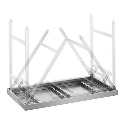 Folding Work Table Heavy Duty Stainless Steel Foldable Catering Table 4 Ft 120Kg 6