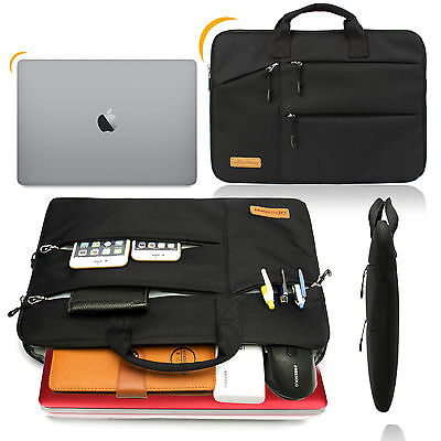 Shockproof 13 14 15.6'' Laptop Sleeve w/4 zipper Pocket&Handle Notebook Bag Case 9