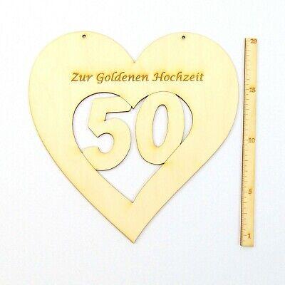Jubilaum 50 Jahre Zusammen Goldene Hochzeit Taube Eheringe Holz