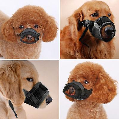 Dog Muzzle Anti Stop Bite Barking Chewing Mesh Mask Training Small Large S-XL US 2