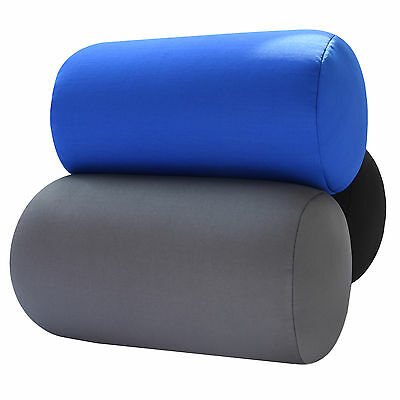 "7"" x 12"" Micro Beads Tube Pillow Lumbar Roll Cushion for Back Leg Neck Support 3"