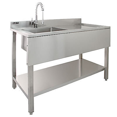 Science Lab Laboratory Sink Stainless Steel Single Bowl 1.0 Right Hand Drainer 9