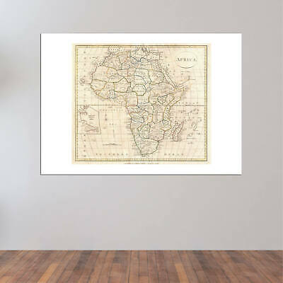 Africa Map Clement Cruttwell 1799 Wall Art Poster Print 2