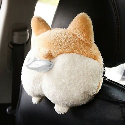 Cute Welsh Corgi Butt Cartoon Animals Tissue Holder Hanging Pouch For Car Home