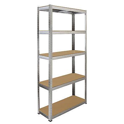 4 x Storage Shelving Garage Racking Heavy Duty 5 Tier Boltless Bays MDF Shelves 2