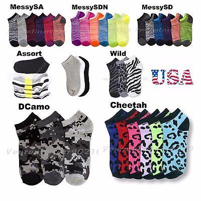 12 Pairs Lot Boy Girl Design Socks Baby Toddler Kid Junior 0-12 2-3 4-6 6-8 2