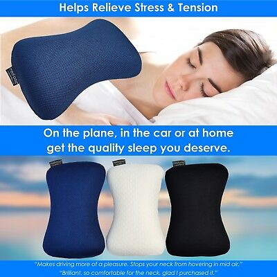 Medipaq® Memory Foam Travel Head Rest Car Seat Cushion Flight Support Pillow