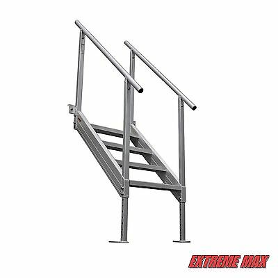 4 Of 9 Extreme Max™ Universal Mount Aluminum Dock Stairs, 4 Step