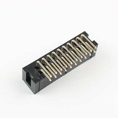 200Pcs 2.54mm 2x10 Pin 20 Pin Right Angle Male Shrouded IDC Box Header Connector